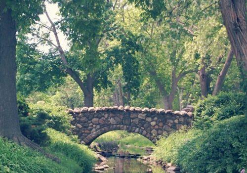 stone bridge in summer