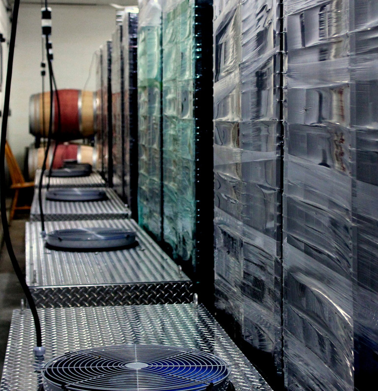 Free-Air System for cool climate Appassimento winemaking